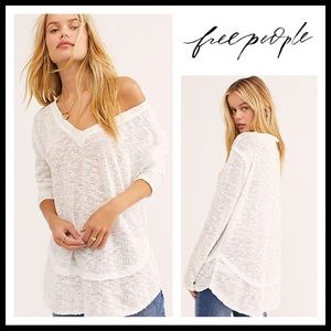 FREE PEOPLE PULLOVER TUNIC FLOWY SWEATER TOP A2C